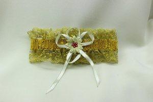 Подвязка невесты золотая