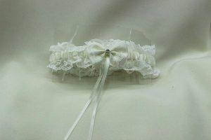 Подвязка невесты айвори шампань