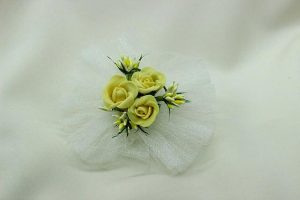 Браслет на руку подружки невесты желтый