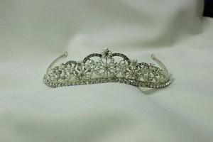 Диадема корона невесты для свадебной прически полукруг