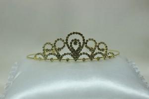 Диадема невесты для свадебной прически золотая