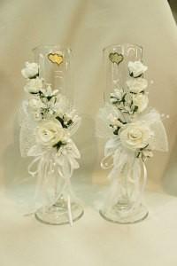 Свадебные бокалы белые
