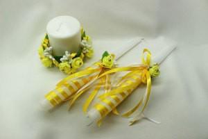 Семейный очаг, свадебные свечи желтые