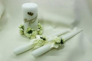 Семейный очаг, свадебные свечи айвори шампань