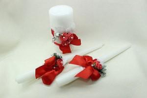 Семейный очаг, свадебные свечи красные