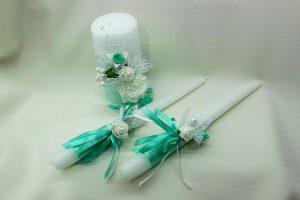 Семейный очаг, свадебные свечи мятные