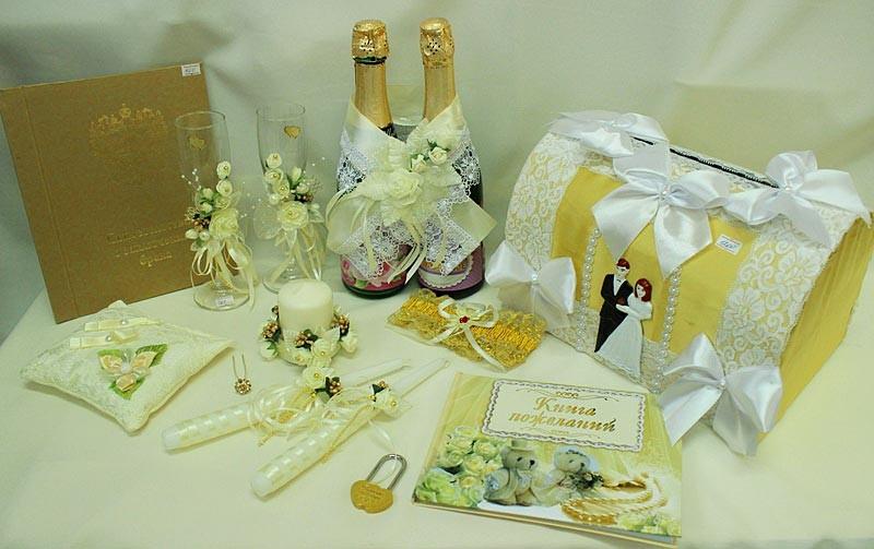 Набор свадебный айвори шампань