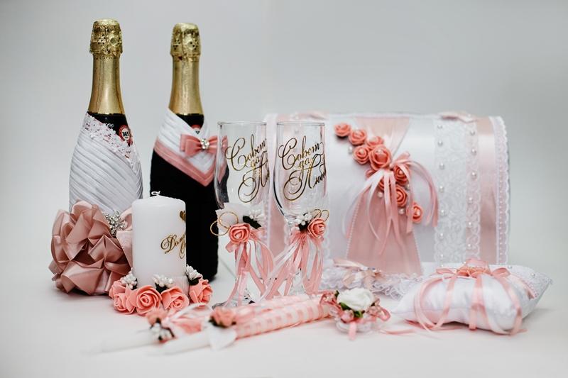 Свадебный набор в пудровом цвете