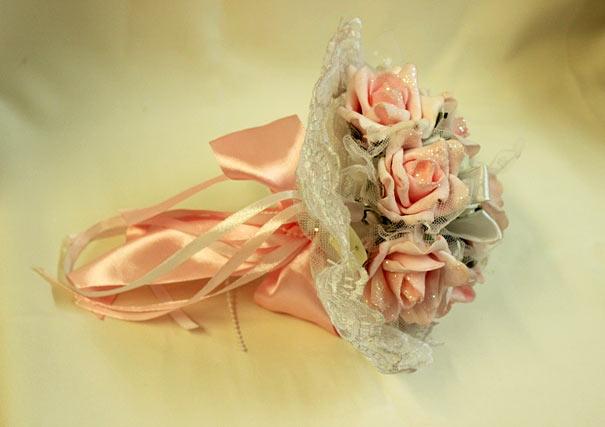 Свадебный букет-дублер невесты розовый