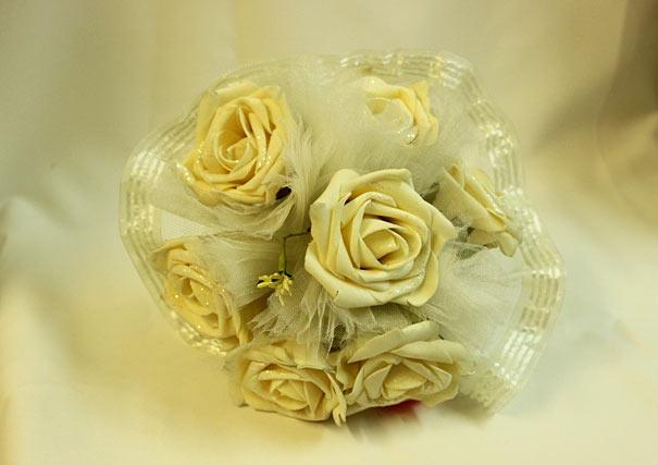 Свадебный букет-дублер невесты айвори