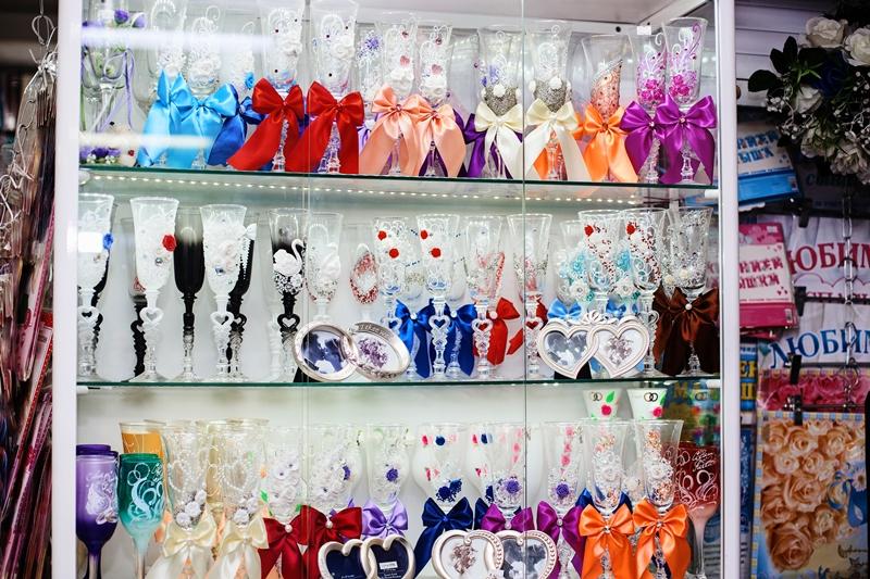 Свадебные бокалы в ассортименте в Новосибирске