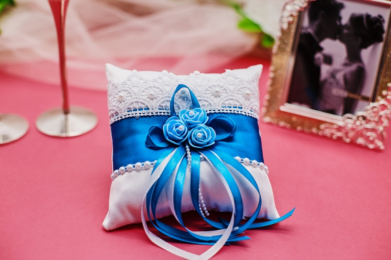Подушечки для колец на свадебу