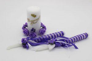 Семейный очаг сиреневый свадебные свечи