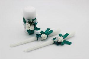 Семейный очаг изумрудный свадебные свечи