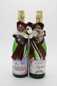 Украшение на шампанское шоколадный