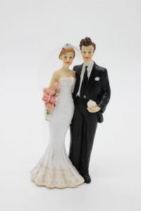 Фигурка на свадебный торт жених и невеста