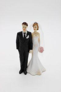 Фигурка на свадебный торт невеста с букетом