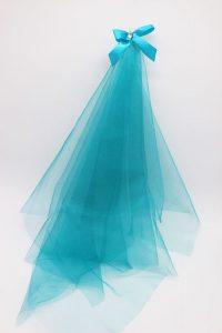 Фата подружки невесты на девичник бирюзовый цвет