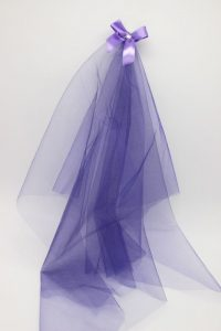 Фата подружки невесты на девичник сиреневая